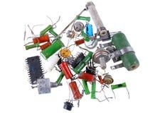 Текстура различных старых, винтажных компонентов радио Стоковое фото RF