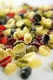 текстура раковины формы макаронных изделия clam итальянская Стоковое Фото