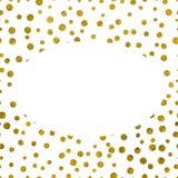 Текстура рамки золотая с космосом экземпляра Стоковое Фото