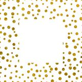 Текстура рамки золотая с космосом экземпляра Стоковые Изображения RF
