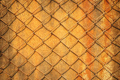 Текстура ржавчины загородки железной проволоки Стоковое Фото