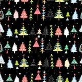 Текстура рождества с рождественскими елками иллюстрация вектора