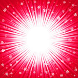 Текстура рождества с сияющими снежинками и лучами иллюстрация штока