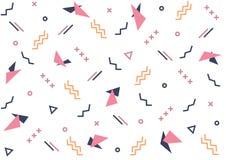 Текстура розового и синего конспекта цвета геометрическая на белой предпосылке цвета Стоковое Изображение