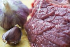 Текстура свежего сырого мяса Волокна мяса Стоковые Фотографии RF