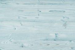 Текстура светлого aqua голубая винтажная деревянная Стоковые Фотографии RF
