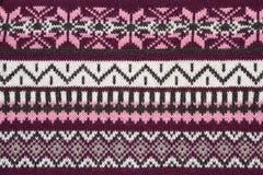 текстура свитера орнамента knit Стоковое фото RF