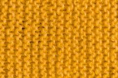 Текстура связанной желтой ткани Стоковое Изображение