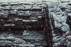 Текстура сгоренной древесины Стоковые Изображения
