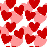 текстура сердец безшовная Стоковая Фотография RF