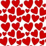текстура сердец безшовная Стоковое Изображение