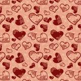 текстура сердца безшовная Стоковые Изображения