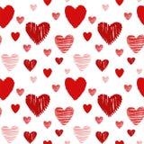 текстура сердца безшовная Стоковая Фотография RF
