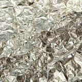 Текстура серебряной фольги Стоковая Фотография RF