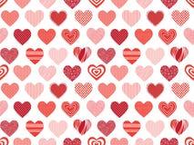 текстура сердец безшовная Стоковое Изображение RF