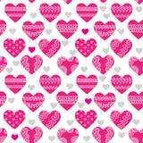 текстура сердец безшовная Стоковые Фотографии RF