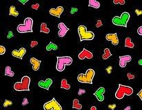 текстура сердец предпосылки цветастая Стоковая Фотография RF
