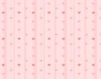 текстура сердец предпосылки Стоковая Фотография RF