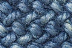 Текстура сини веревочки Стоковые Фото