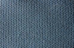 Текстура сини макроса хлопка Стоковое Изображение RF