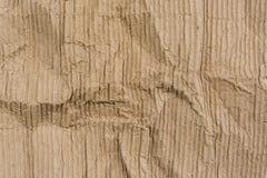 Текстура сморщенной гофрированной бумаги Стоковое Изображение