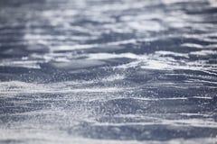 Текстура снега в ветреном дне Стоковая Фотография RF