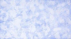 Текстура снега на стекле в холодной зиме Стоковая Фотография RF