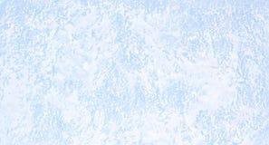 Текстура снега на стекле в холодной зиме Стоковые Фотографии RF