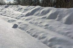 Текстура снега яркого белого Стоковое Изображение
