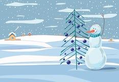 текстура снеговика hoiday картины рождества предпосылки безшовная Стоковая Фотография RF