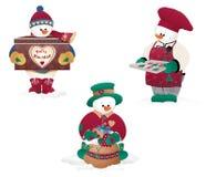 текстура снеговика hoiday картины рождества предпосылки безшовная Стоковые Фото