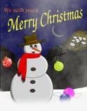 текстура снеговика hoiday картины рождества предпосылки безшовная Стоковое Изображение RF