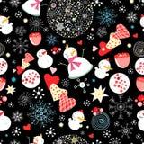 текстура снеговиков рождества иллюстрация штока