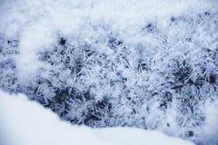 Текстура снежка заморозок на льде Стоковое Фото