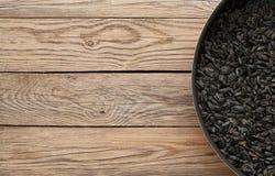 текстура солнцецвета семян предпосылки черная стоковые фотографии rf
