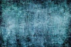 Текстура спада темного абстрактного Grunge голубого зеленого цвета картины ржавая передернутая старая для обоев предпосылки осени стоковое изображение rf