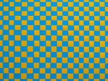 Текстура сплетенной бумаги - синь и желтый цвет Стоковая Фотография RF