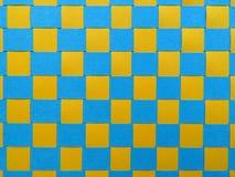 Текстура сплетенной бумаги - синь и желтый цвет Стоковое Изображение RF