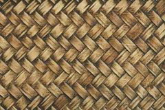 Текстура сплетенная бамбуком Стоковые Изображения