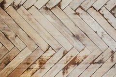 Текстура старого деревянного партера Стоковое Изображение RF