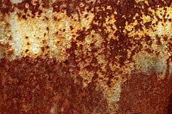 Текстура старого заржаветого листа утюга металла Фон текстуры ржавчины Стоковое Изображение