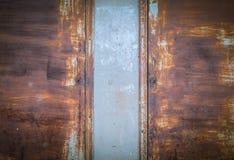 Текстура старого и ржавого железного строба Стоковое Фото
