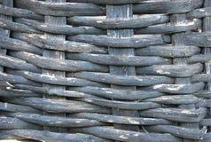 Текстура старого коричневого конца-вверх плетеной корзины Стоковая Фотография RF