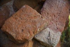 Текстура старого красного кирпича Стоковая Фотография
