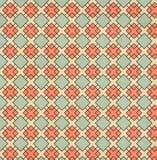 Текстура старой бумаги с геометрической орнаментальной картиной Стоковое Изображение