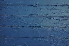 Текстура старой доски сини предпосылки Стоковая Фотография