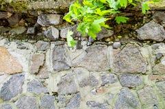 Текстура старой каменной стены с грубыми соединениями стоковые изображения rf