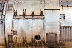 Текстура старой металлической кожи воздушных судн Стоковое Изображение