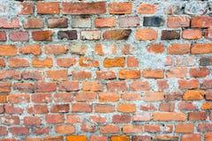 Текстура старой оранжевой кирпичной стены Стоковая Фотография