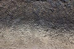 Текстура старой серой заштукатуренной стены Стоковое Изображение